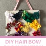 diy hair bow organization for a girls room