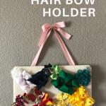 easy DIY hair bow holder idea pin