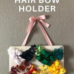 easy diy hair bow holder for girls