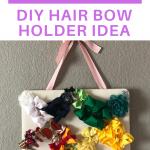 simple DIY hair holder idea