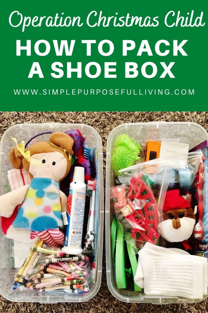 How to pack a shoe box operation christmas child