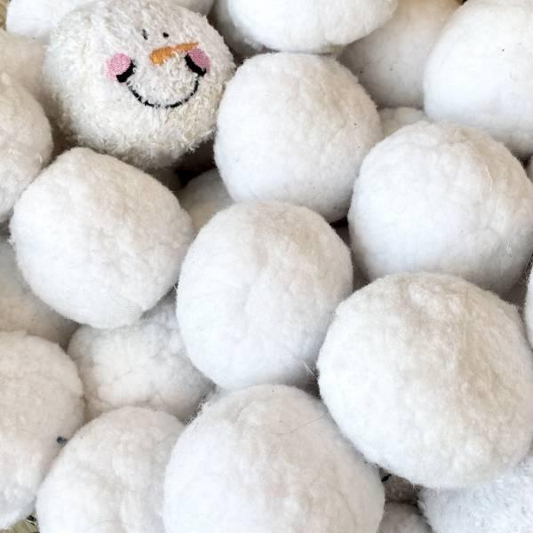 indoor plush snowballs