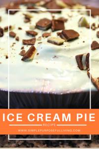 ice cream pie recipe Pinterest pin image