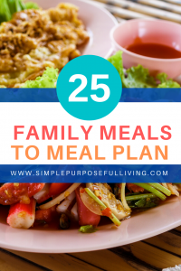 25 family meals for meal planning
