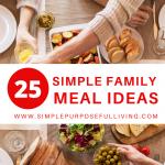 25 family meals ideas