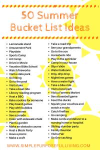 50 summer bucket list ideas graphic