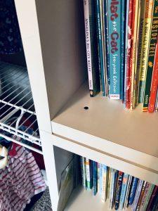 shelves screwed in closet organization