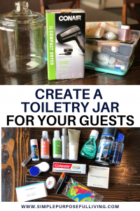 create a toiletry jar for your guests