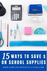 15 ways to save money on school supplies