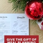 give the gift of meal planning this christmas