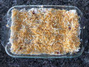 chicken enchiladas ready for oven