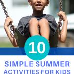 simple summer kids activities