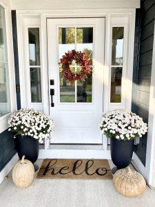 Classic front porch decor