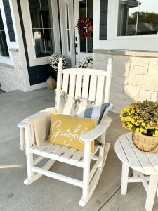 white rockers fall front porch