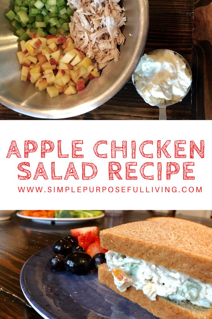 Apple chicken salad sandwich recipe