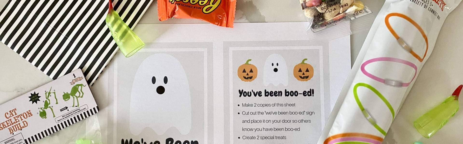 Simple Boo Your Neighbors Halloween Activity