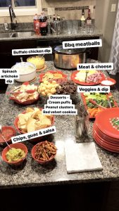 simple party foods on counter