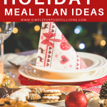 holiday meal plan ideas Pinterest pin