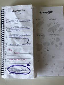 egg stuffing bake recipe in meal planning journal