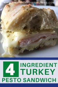 4 ingredient turkey pesto sandwich recipe