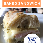 easy turkey pesto baked sandwich pin
