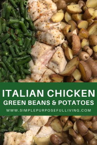 slow cooker Italian chicken, green beans, and potatoes recipe