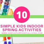 10 simple kids indoor spring activities