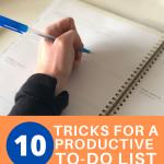 10 tricks for a prodcuctive to do list