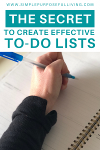 The secret to create effective to do lists