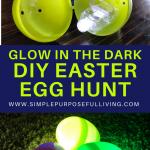 glow in the dark DIY easter egg hunt idea