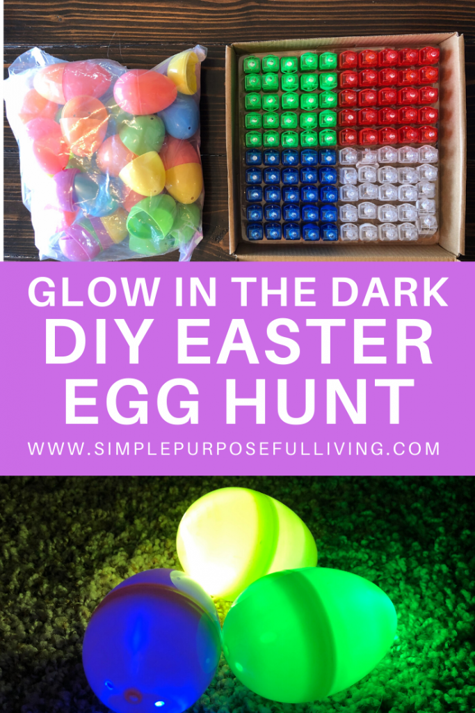 how to do a glow in the dark easter egg hunt for kids