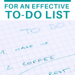 the secrets for an effective to-do list