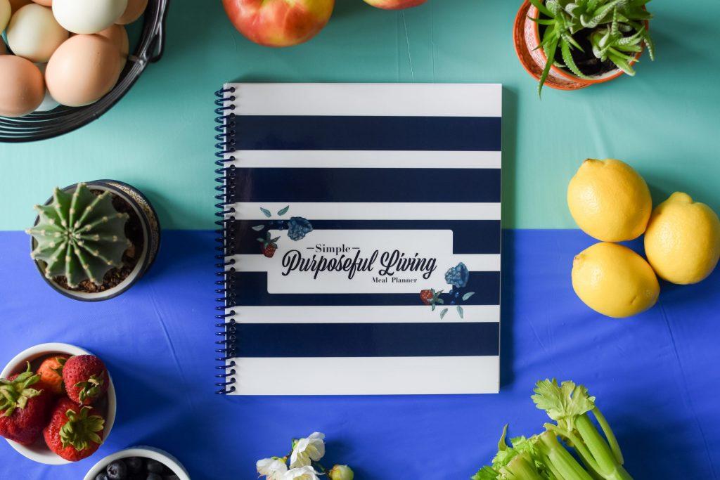 best selling Simple Purposeful Living 52 week meal planner