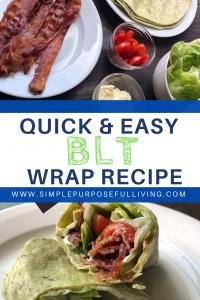 BLT wrap recipe idea