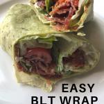 simple BLT wrap recipe