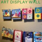 children's easy art display wall