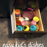 easy kid's dishes organization