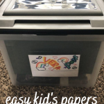easy kid's papers organization