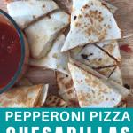 easy lunchbox pizza quesadillas
