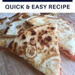 pepperoni pizza quesadillas easy recipe