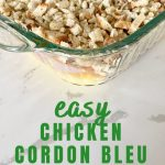 easy baked chicken cordon bleu casserole with stuffing
