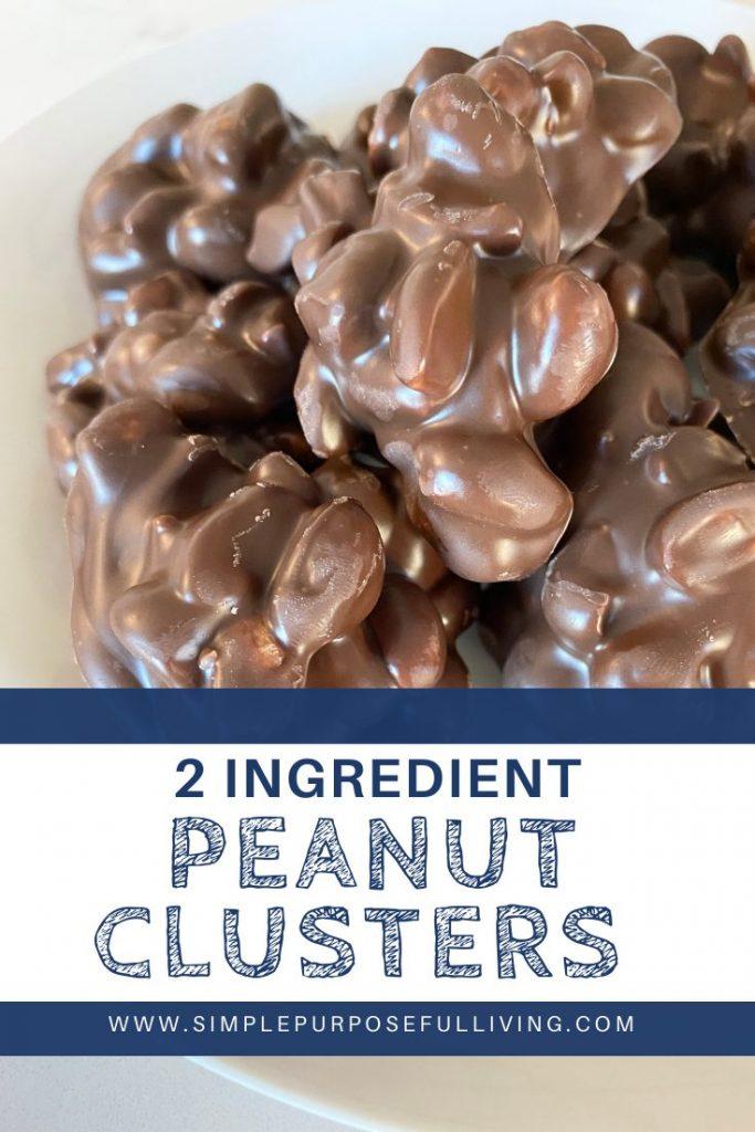 2 ingredient peanut clusters