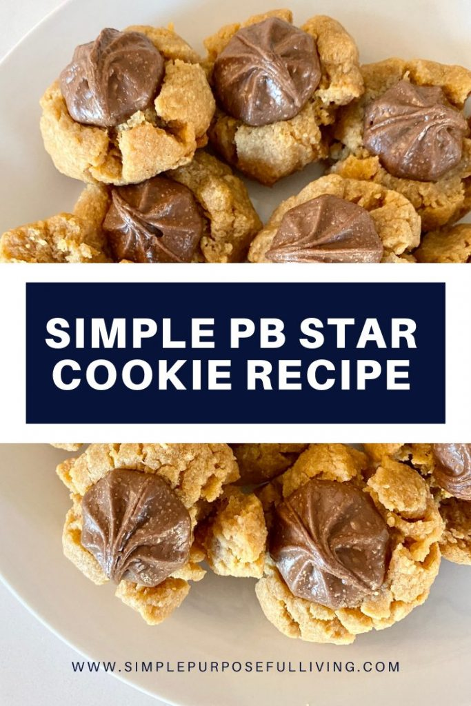 simple PB star cookie recipe
