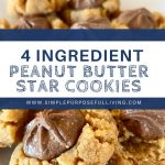 simple peanut butter star cookies