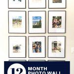 12 month photo wall decor idea