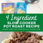 4 ingredient slow cooker pot recipe easy