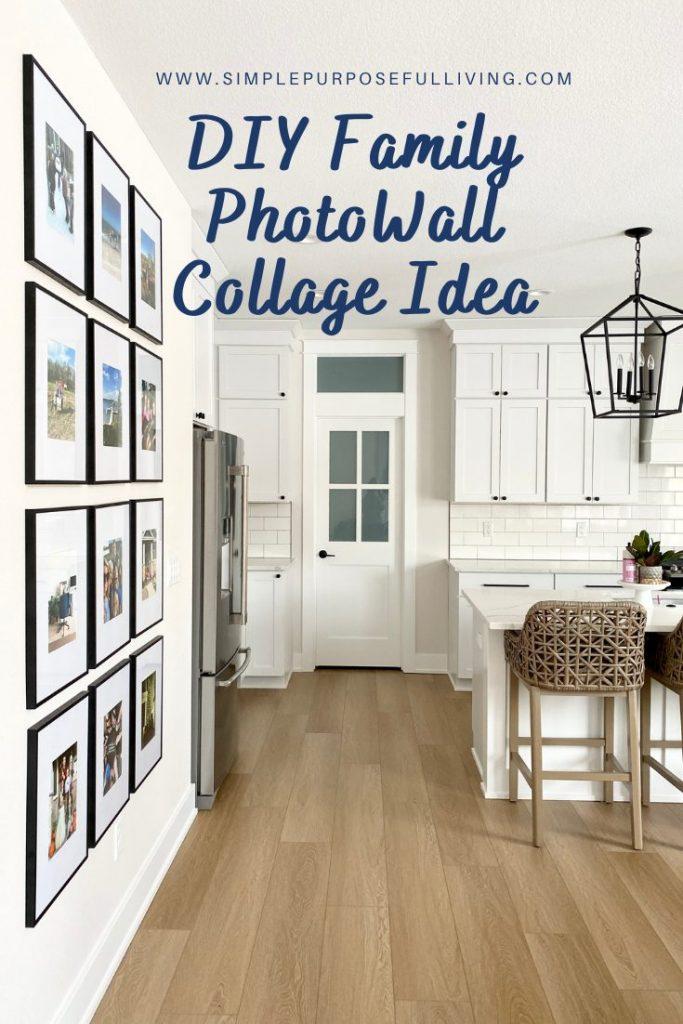 DIY family photo wall collage idea