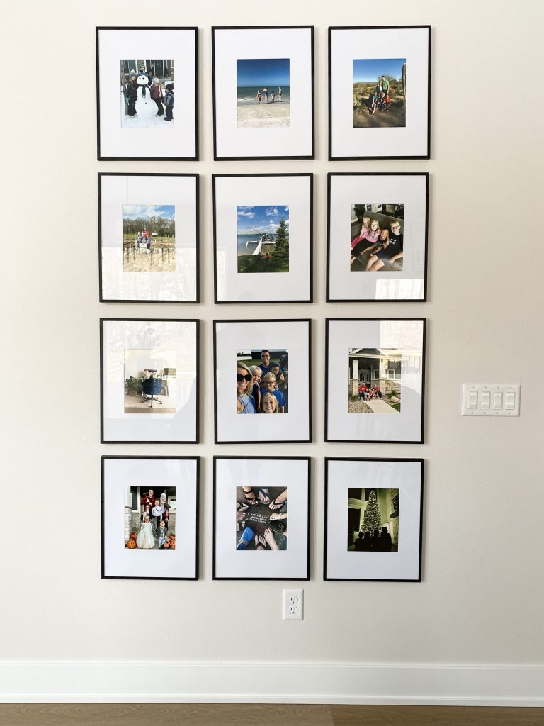 monthly photo wall idea