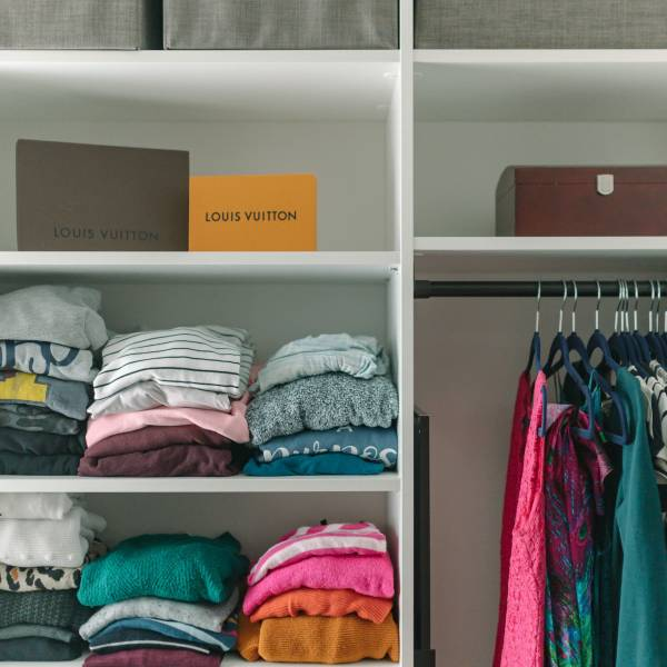 sweater organization master closet