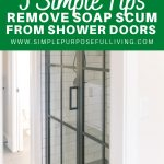 5 Simple tips remove soap scum from shower doors